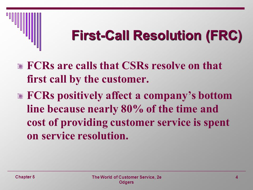 First-Call Resolution (FRC)