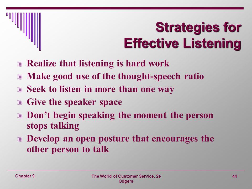 Strategies for Effective Listening