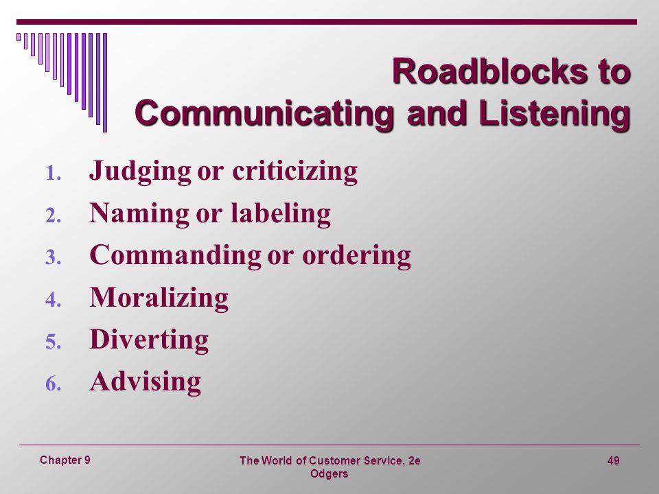 Roadblocks to Communicating and Listening