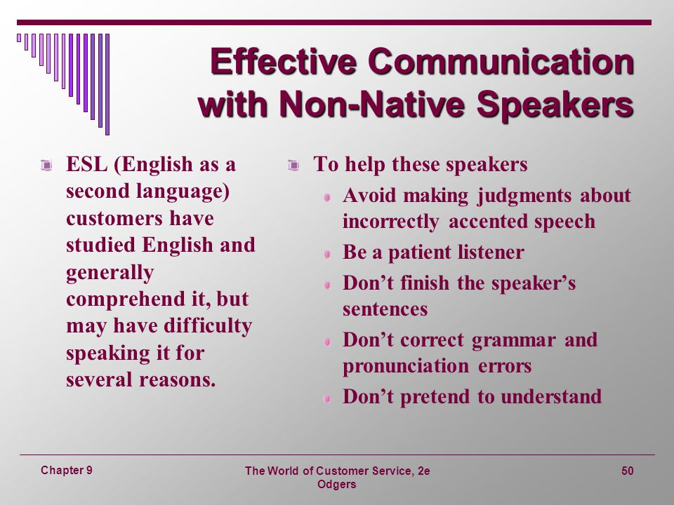 Effective Communication with Non-Native Speakers