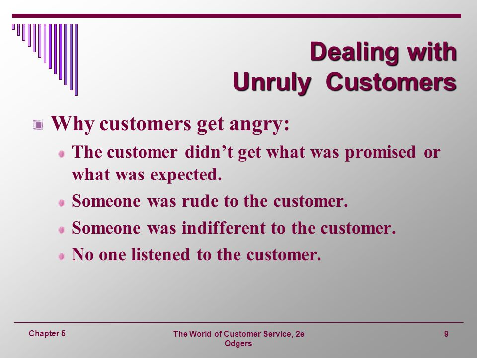 Dealing with Unruly Customers