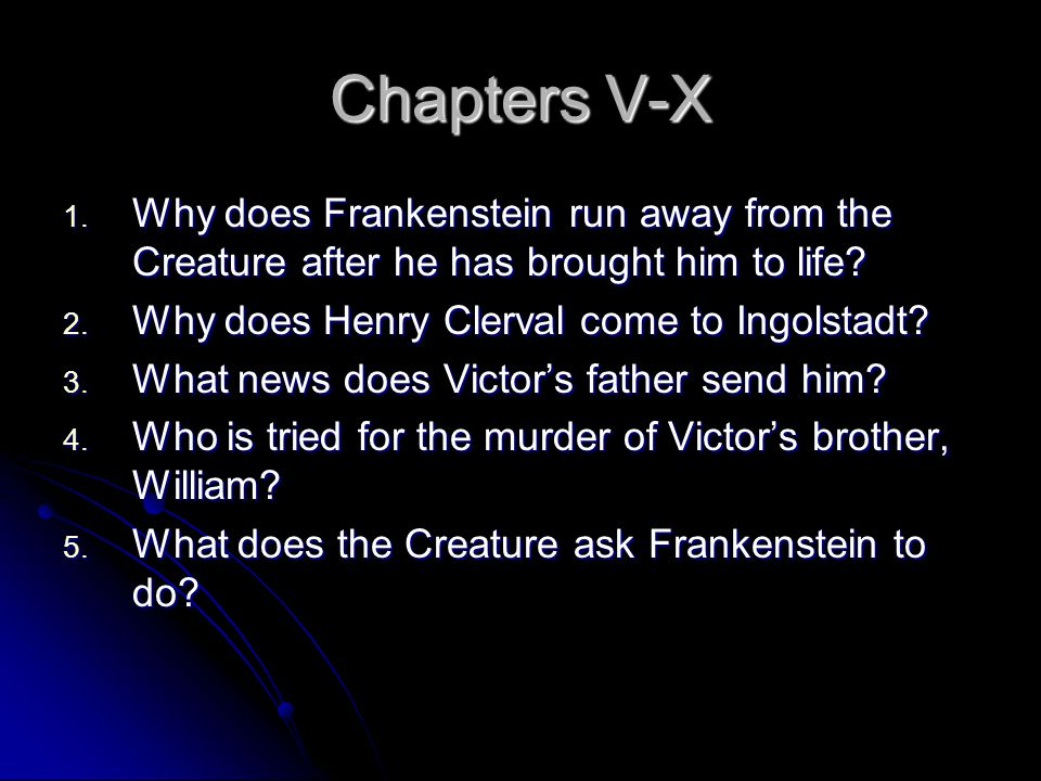 frankenstein thesis essay In the story of frankenstein, victor, a if you are the original writer of this essay and no longer wish to have the essay published on the uk essays.