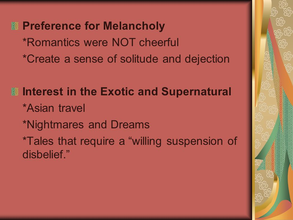 Preference for Melancholy