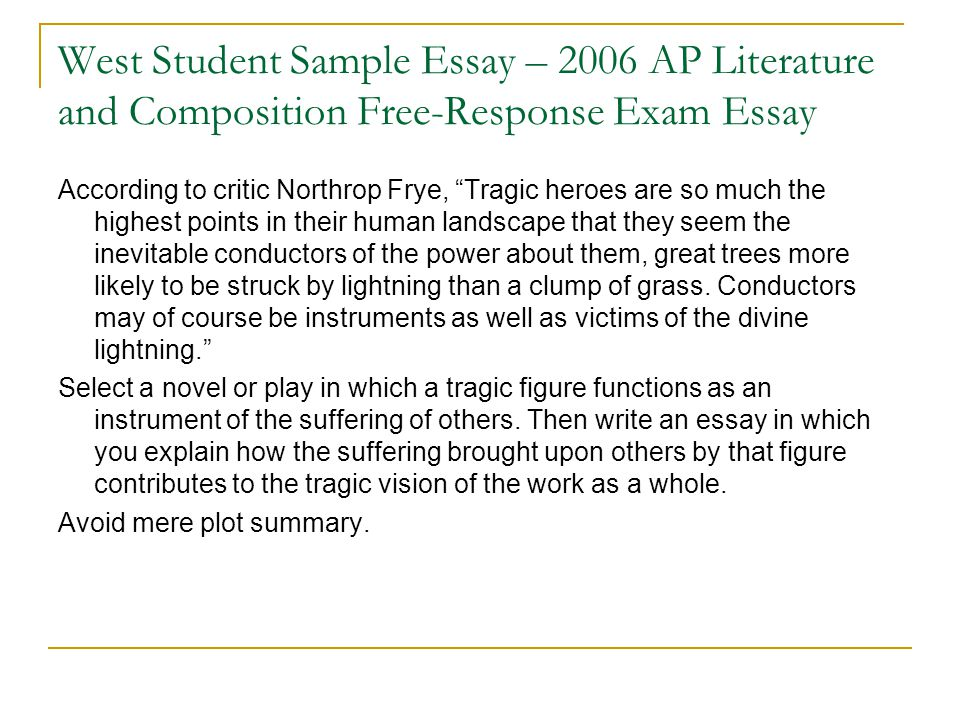 ap literature poetry essay Ap's high school english literature and composition course is a rigorous, college-level class that provides an opportunity to gain skills colleges recognize.
