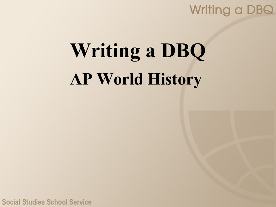 Writing a DBQ AP World History Introduction
