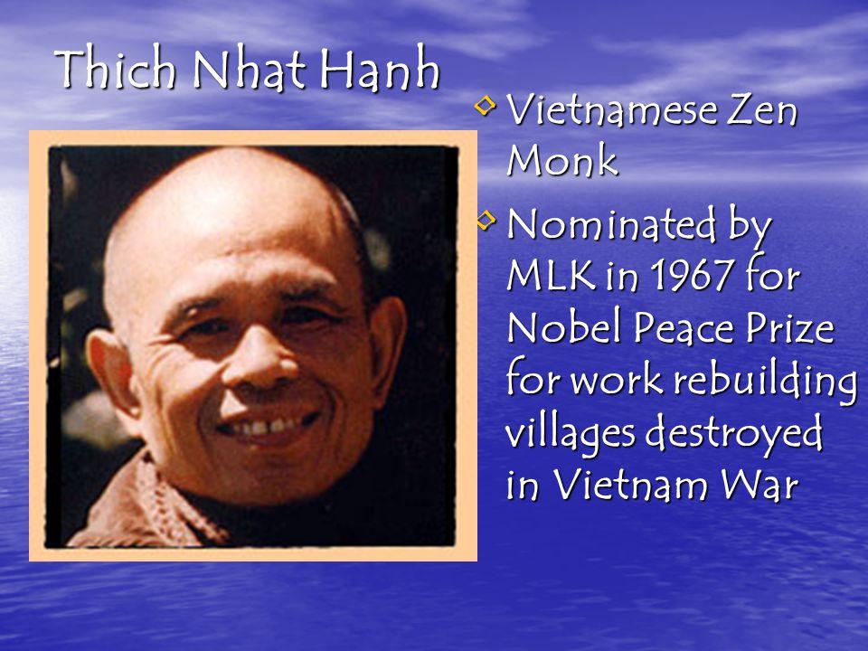 Thich Nhat Hanh Vietnamese Zen Monk