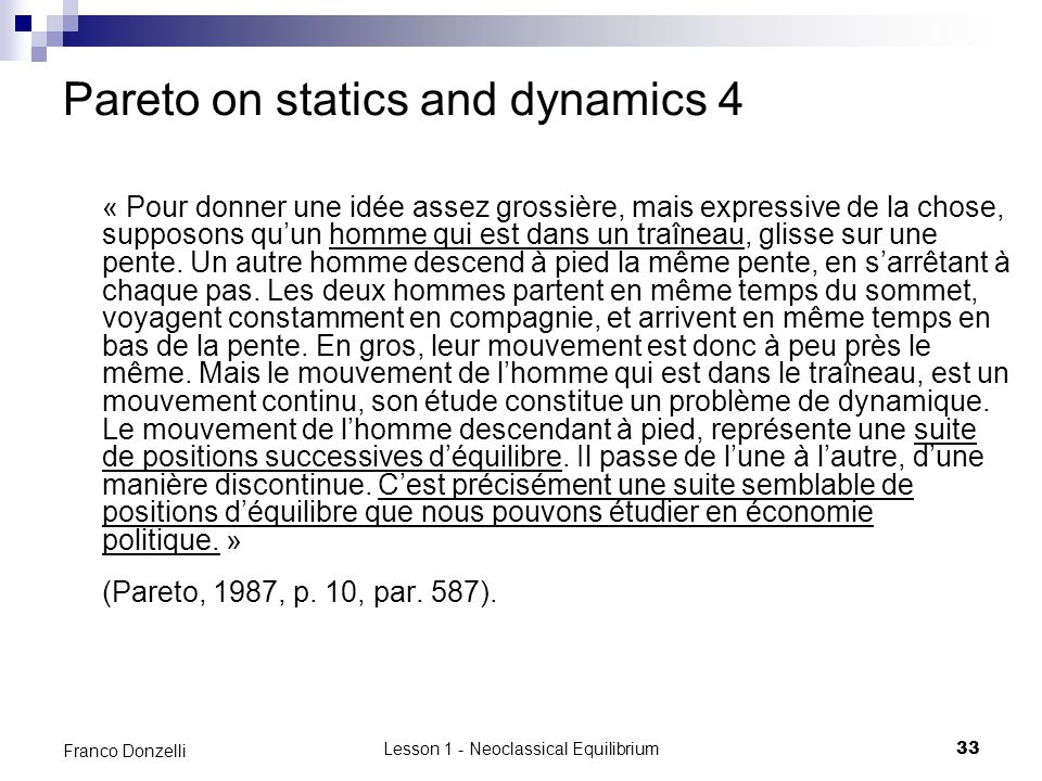 Pareto on statics and dynamics 4