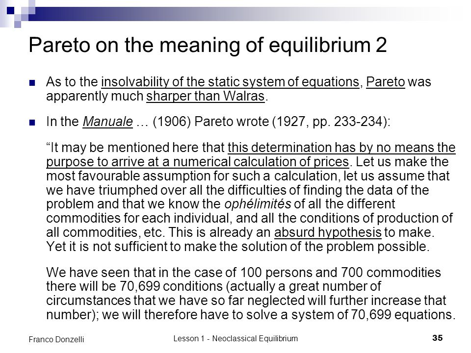 Pareto on the meaning of equilibrium 2