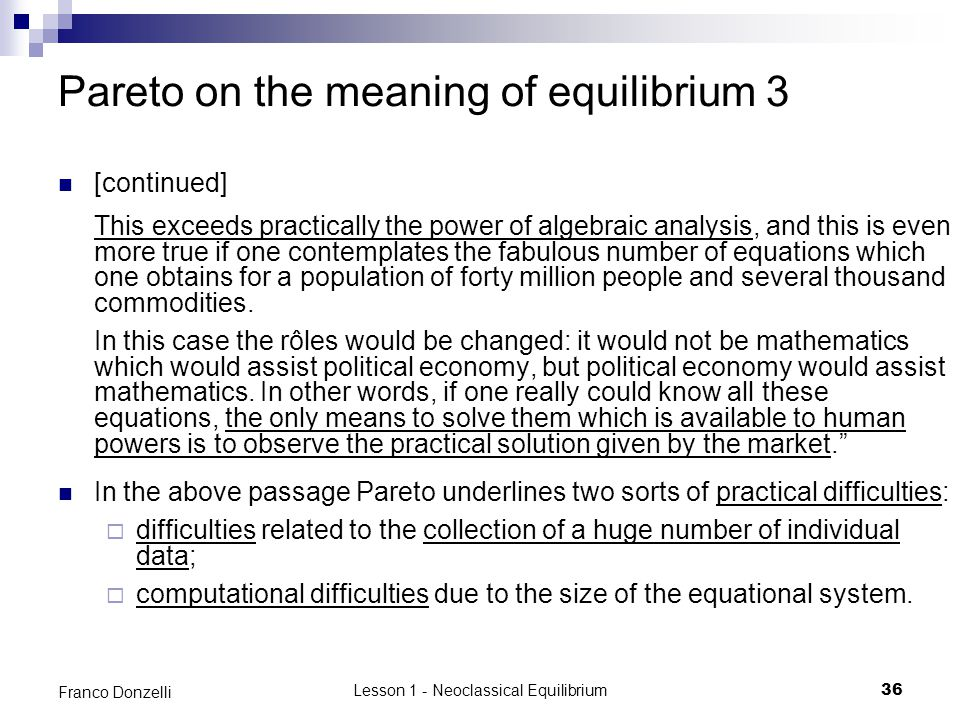 Pareto on the meaning of equilibrium 3