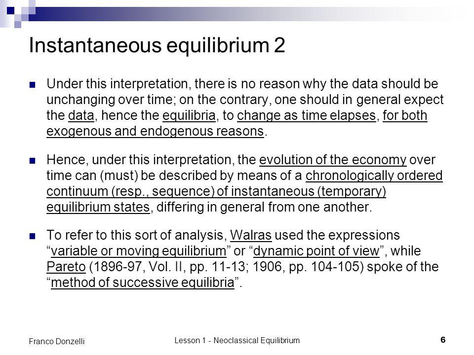 Instantaneous equilibrium 2