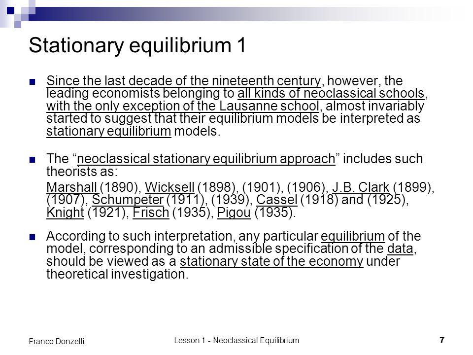 Stationary equilibrium 1