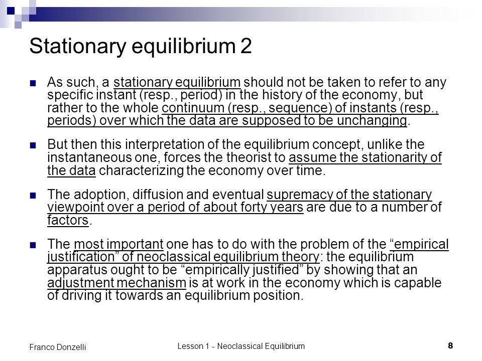 Stationary equilibrium 2