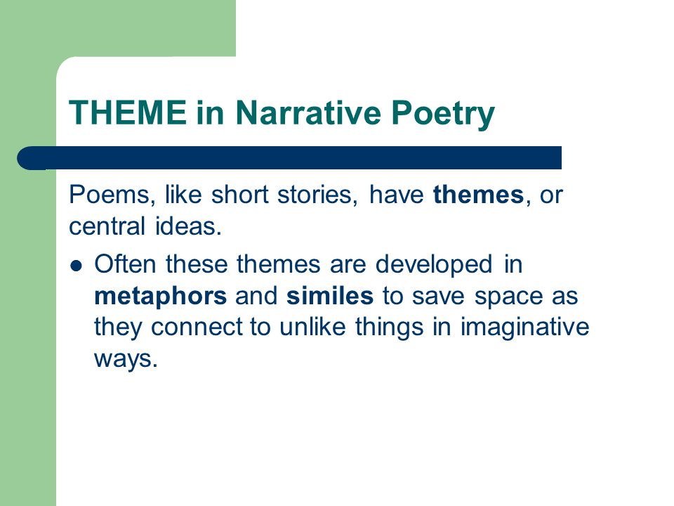 THEME in Narrative Poetry