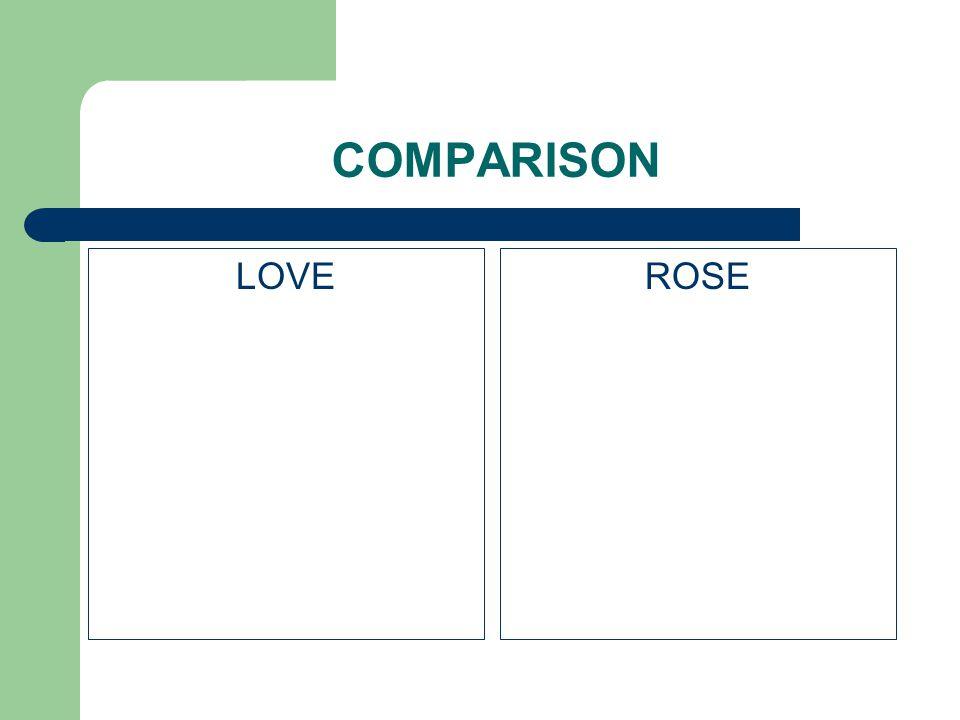 COMPARISON LOVE ROSE