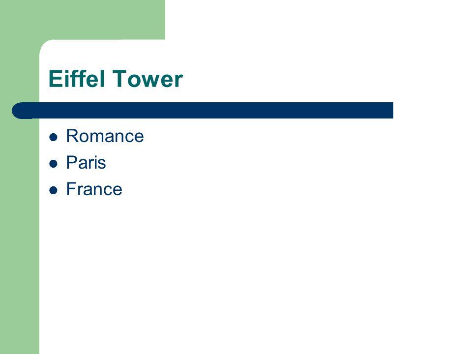 Eiffel Tower Romance Paris France