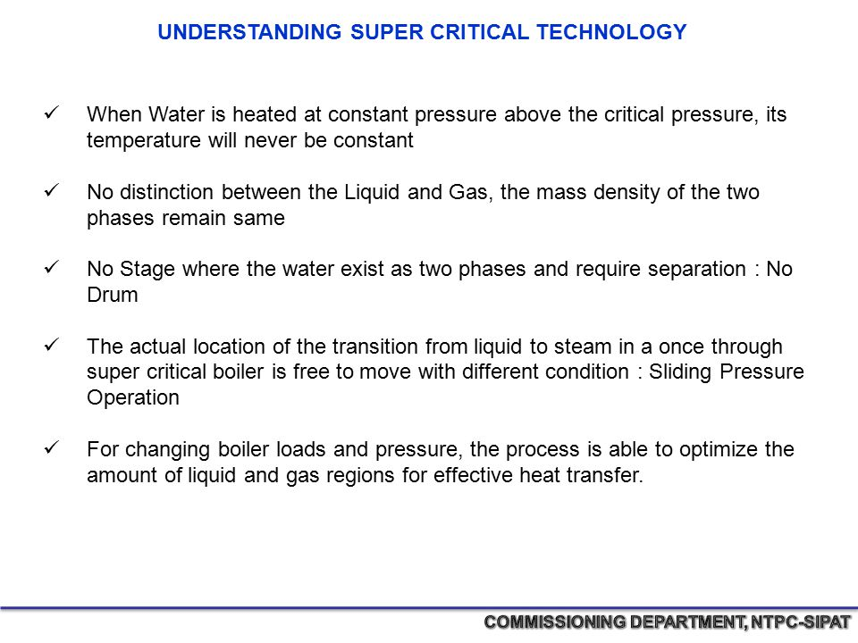 UNDERSTANDING SUPER CRITICAL TECHNOLOGY