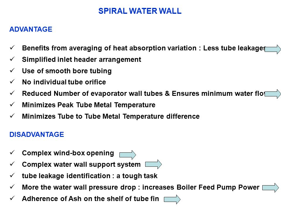 SPIRAL WATER WALL ADVANTAGE