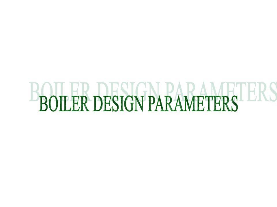 BOILER DESIGN PARAMETERS