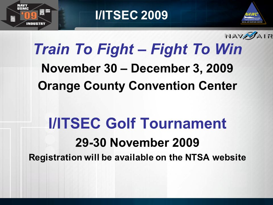 Train To Fight – Fight To Win I/ITSEC Golf Tournament