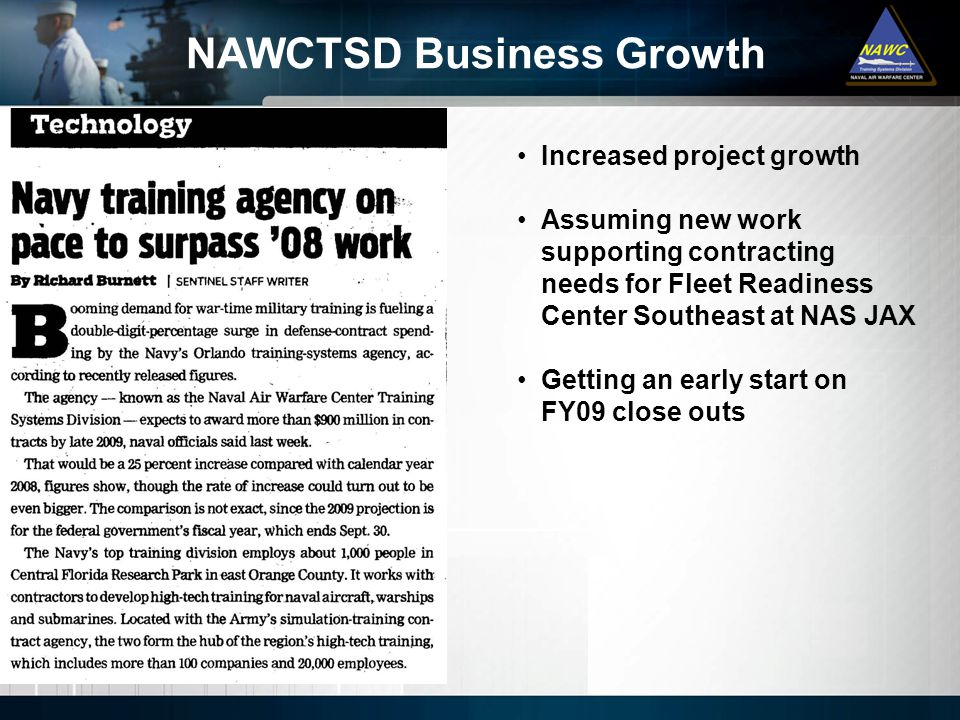 NAWCTSD Business Growth