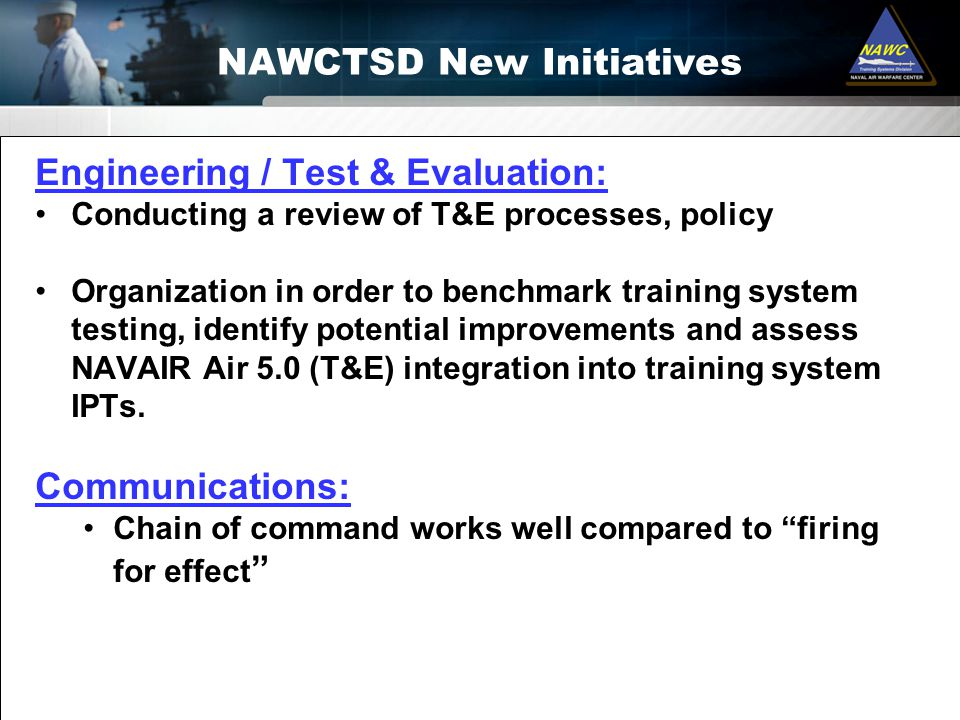 NAWCTSD New Initiatives