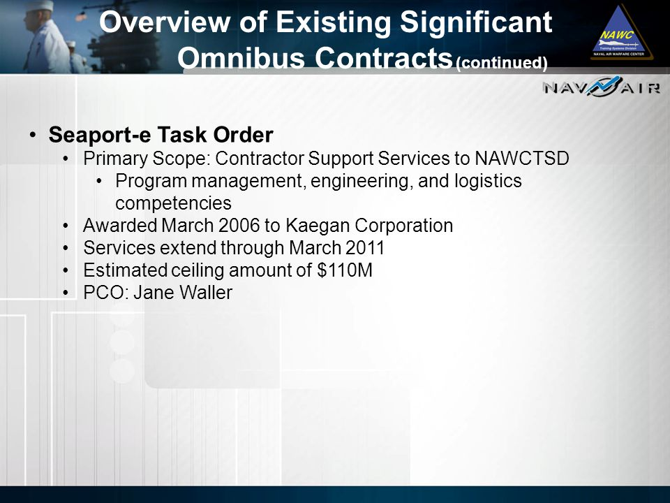 Overview of Existing Significant Omnibus Contracts (continued)