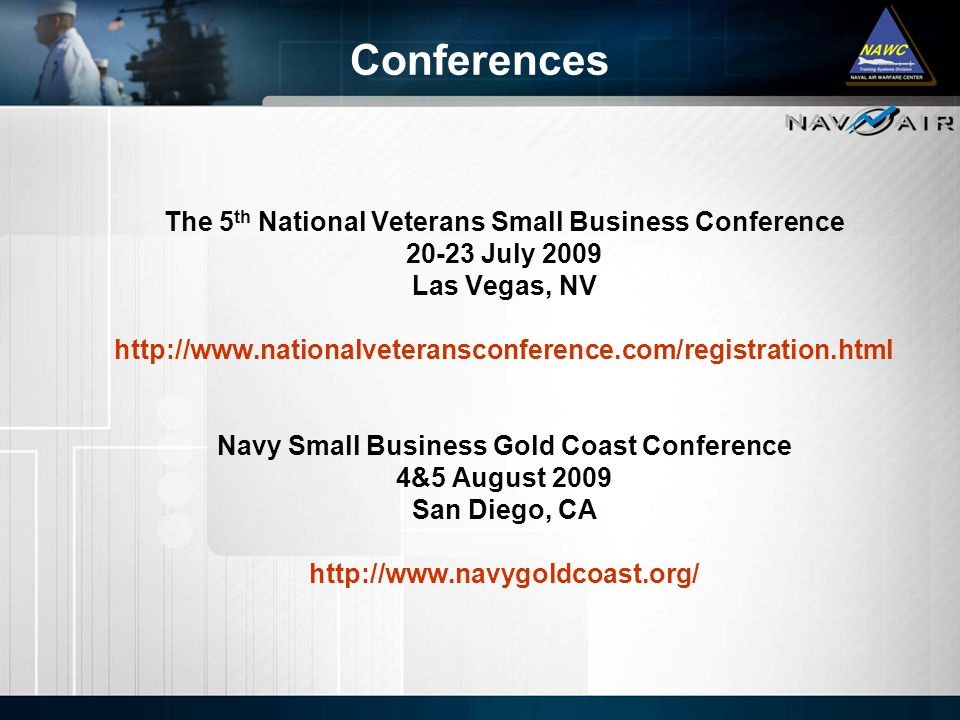 Conferences The 5th National Veterans Small Business Conference