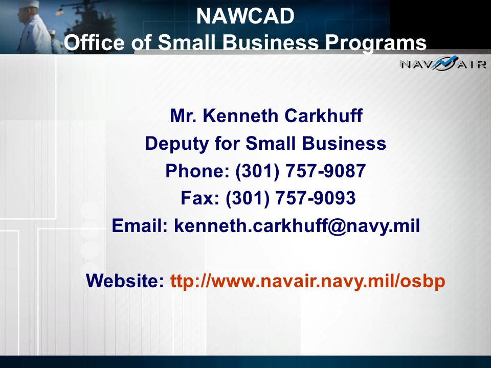 NAWCAD Office of Small Business Programs