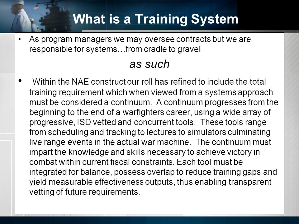 What is a Training System