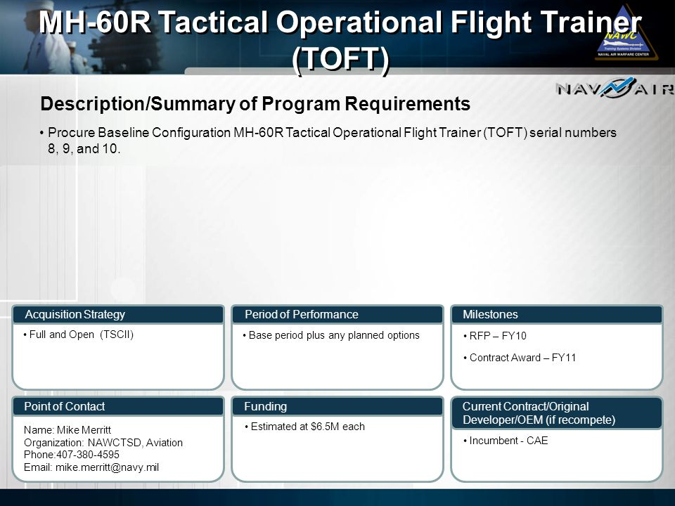 MH-60R Tactical Operational Flight Trainer