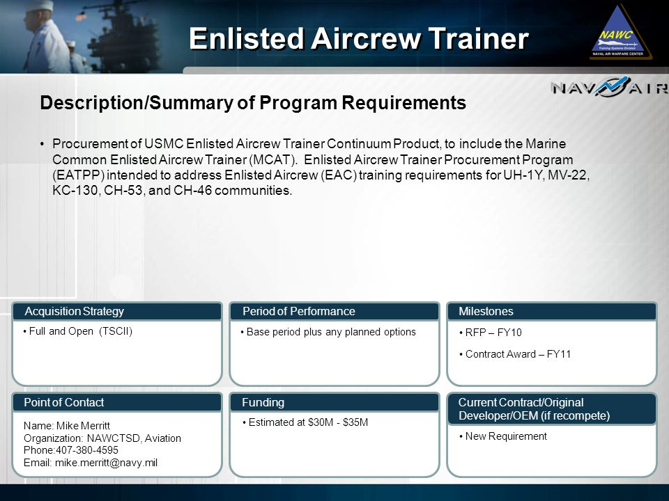 Enlisted Aircrew Trainer