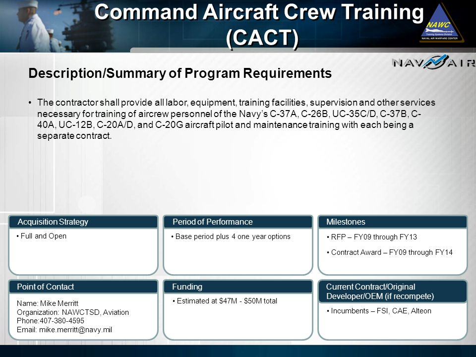 Command Aircraft Crew Training