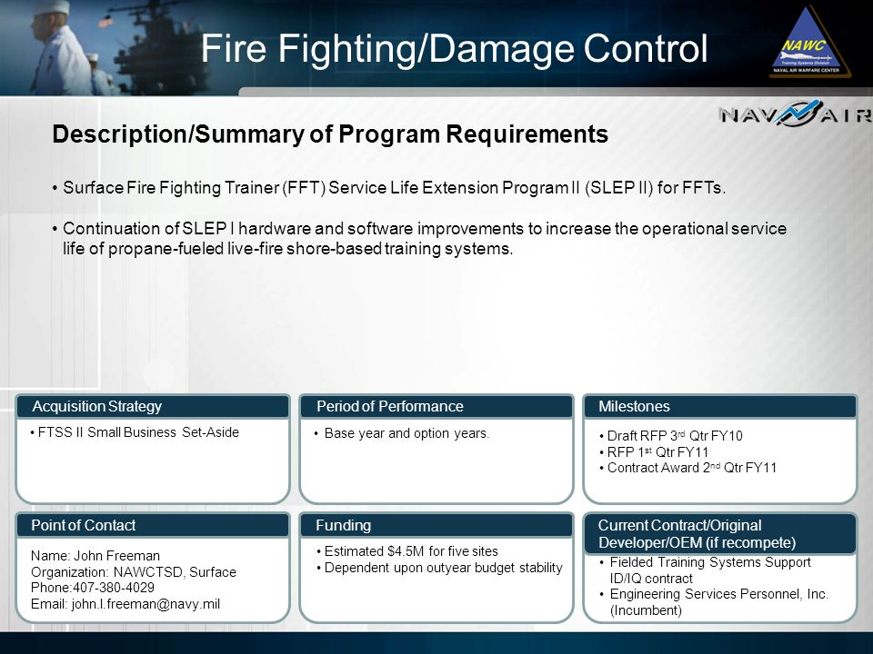Fire Fighting/Damage Control