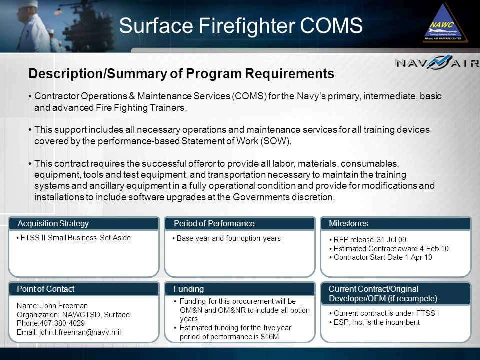Surface Firefighter COMS