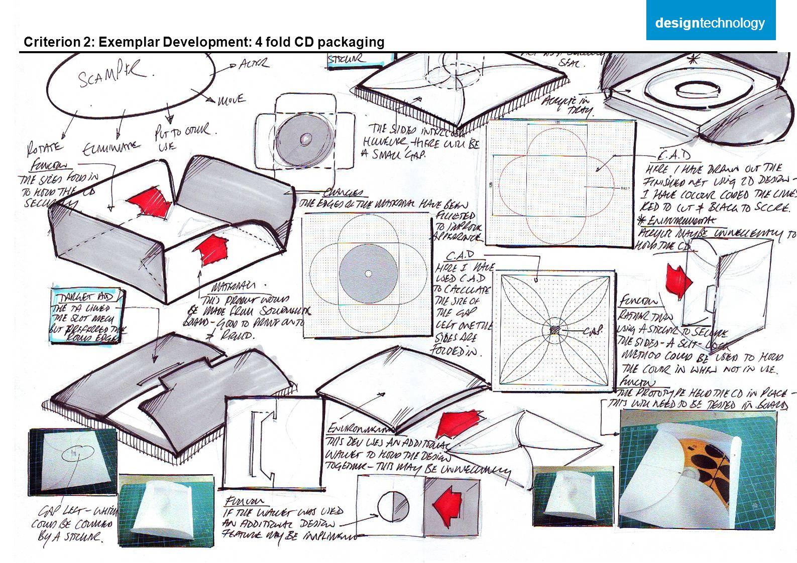 designtechnology designtechnology Criterion 2: Exemplar Development: 4 fold CD packaging