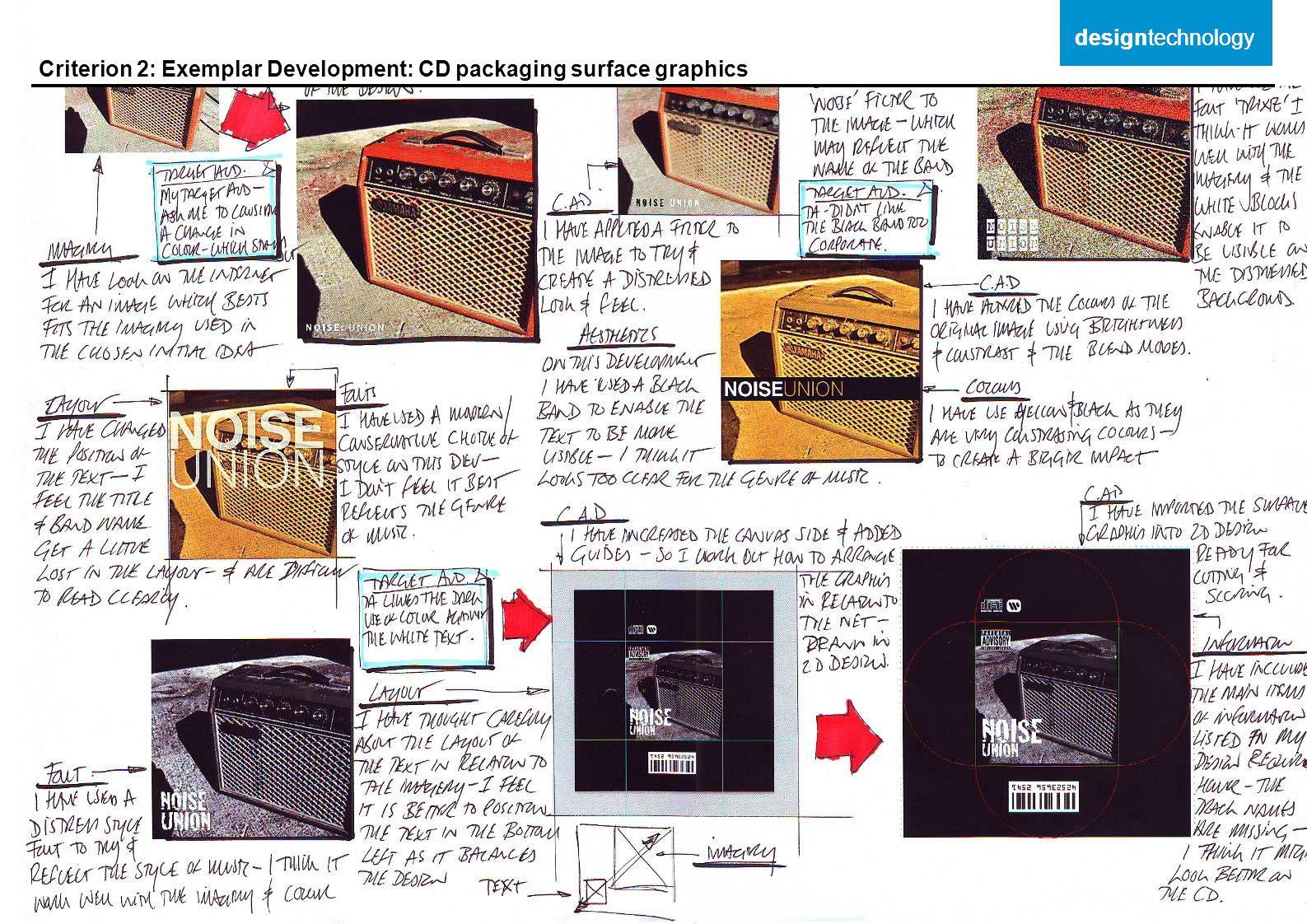 designtechnology designtechnology Criterion 2: Exemplar Development: CD packaging surface graphics