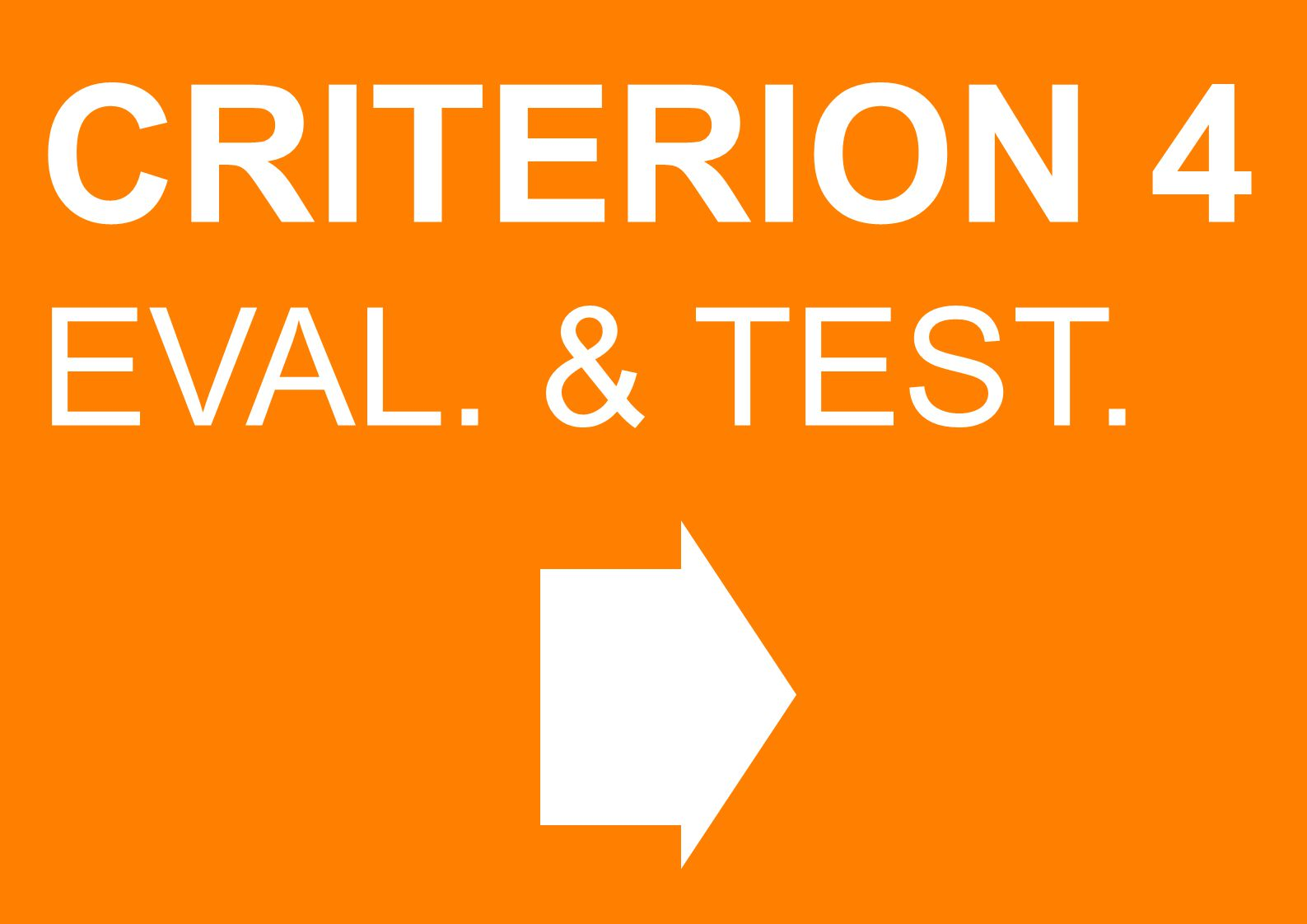 CRITERION 4 EVAL. & TEST.