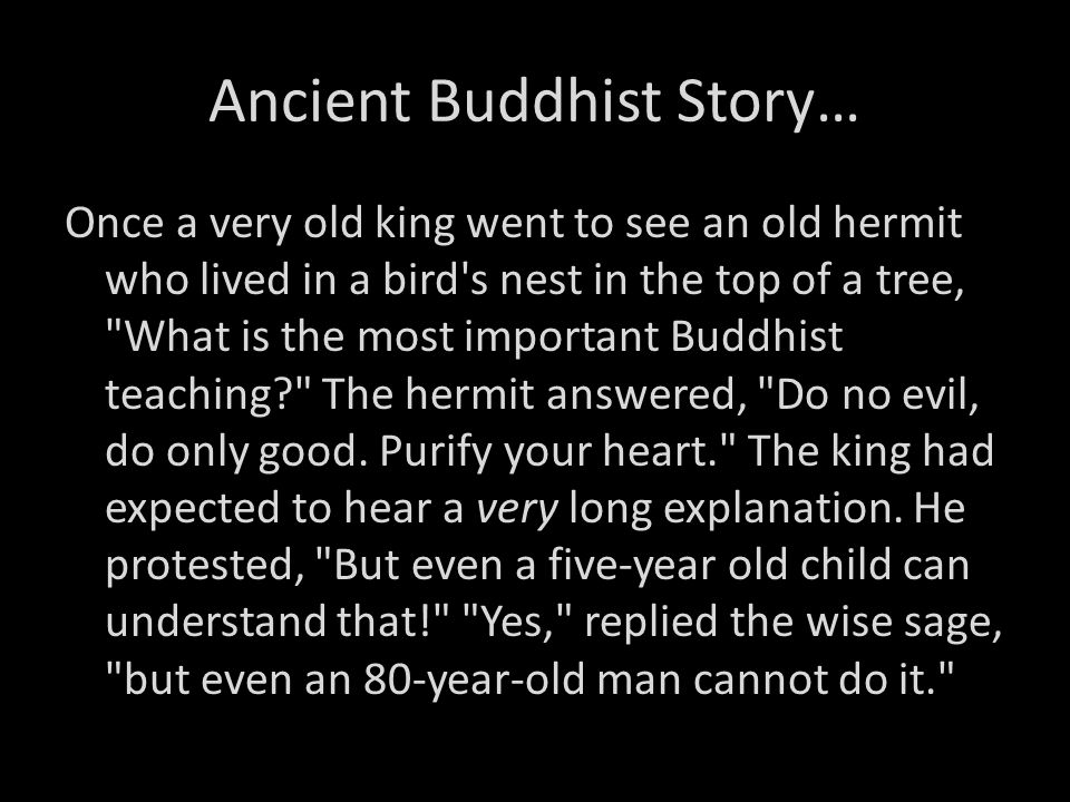 Ancient Buddhist Story…