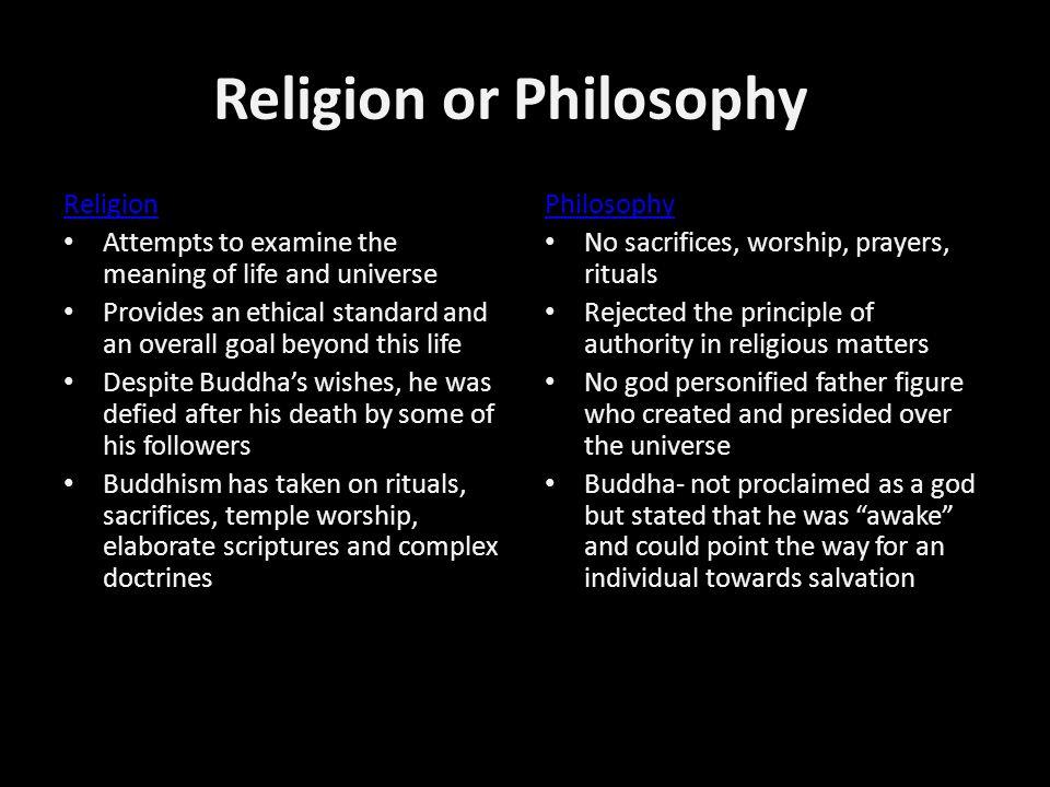 Religion or Philosophy