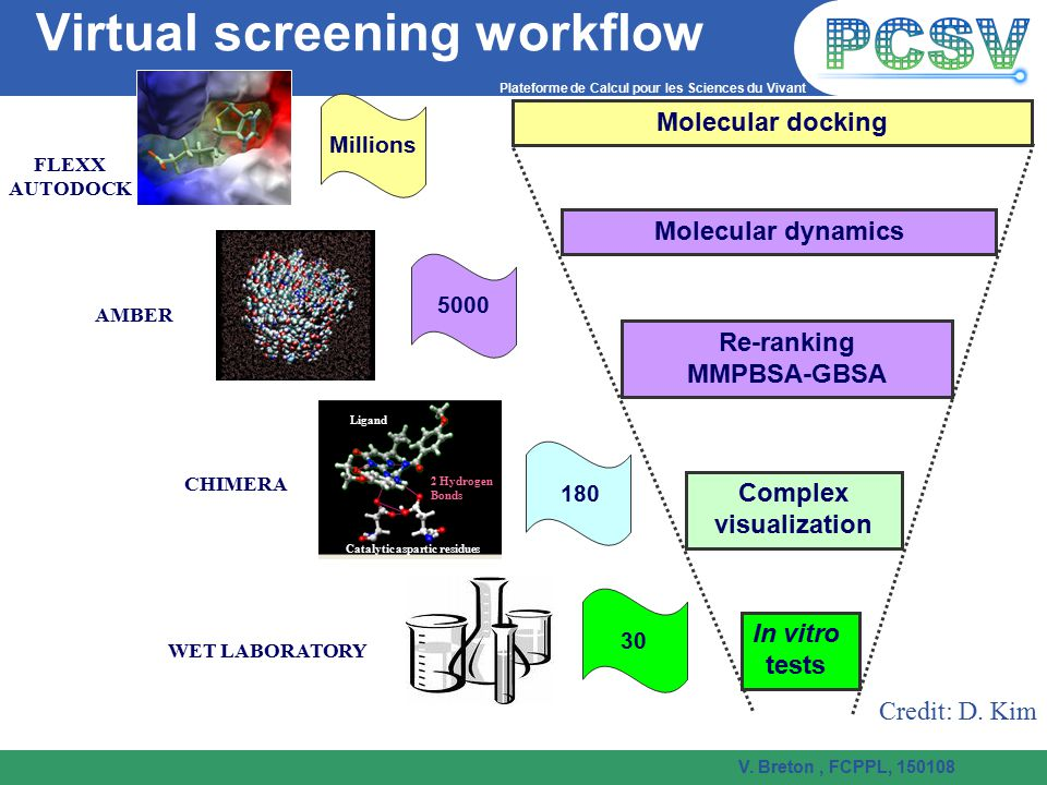 Virtual screening workflow