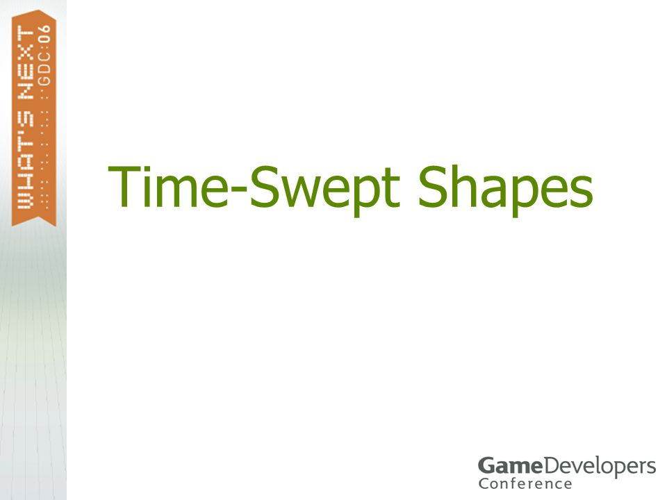 Time-Swept Shapes