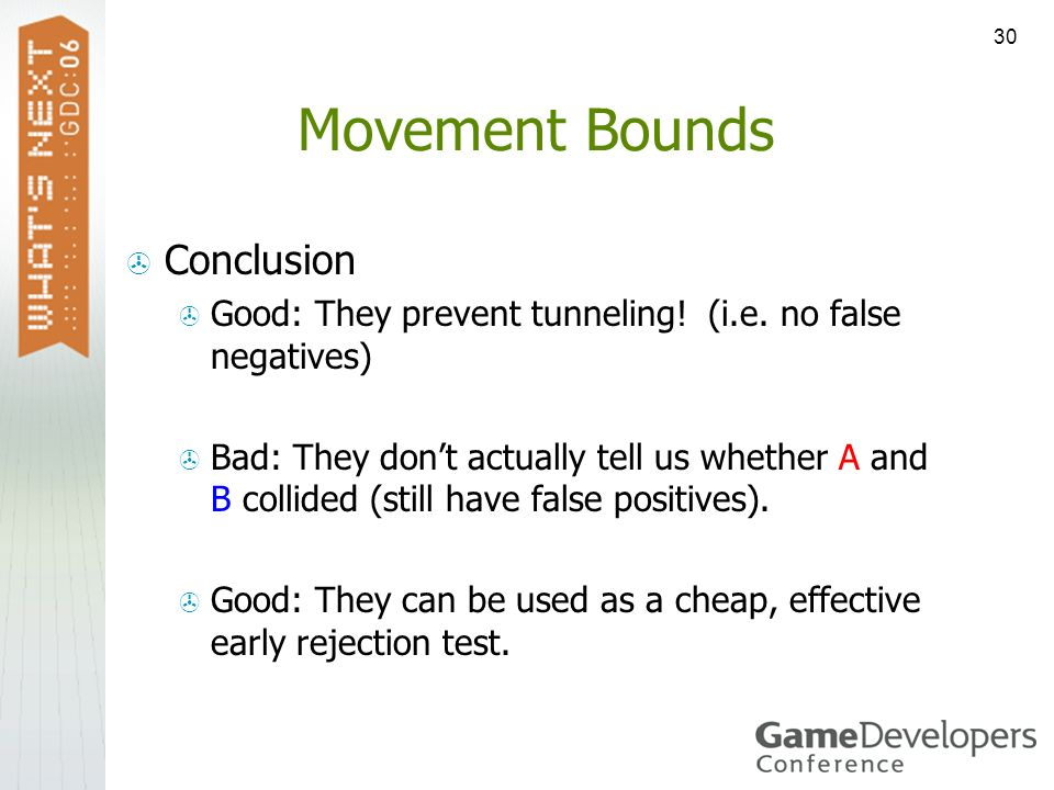 Movement Bounds Conclusion