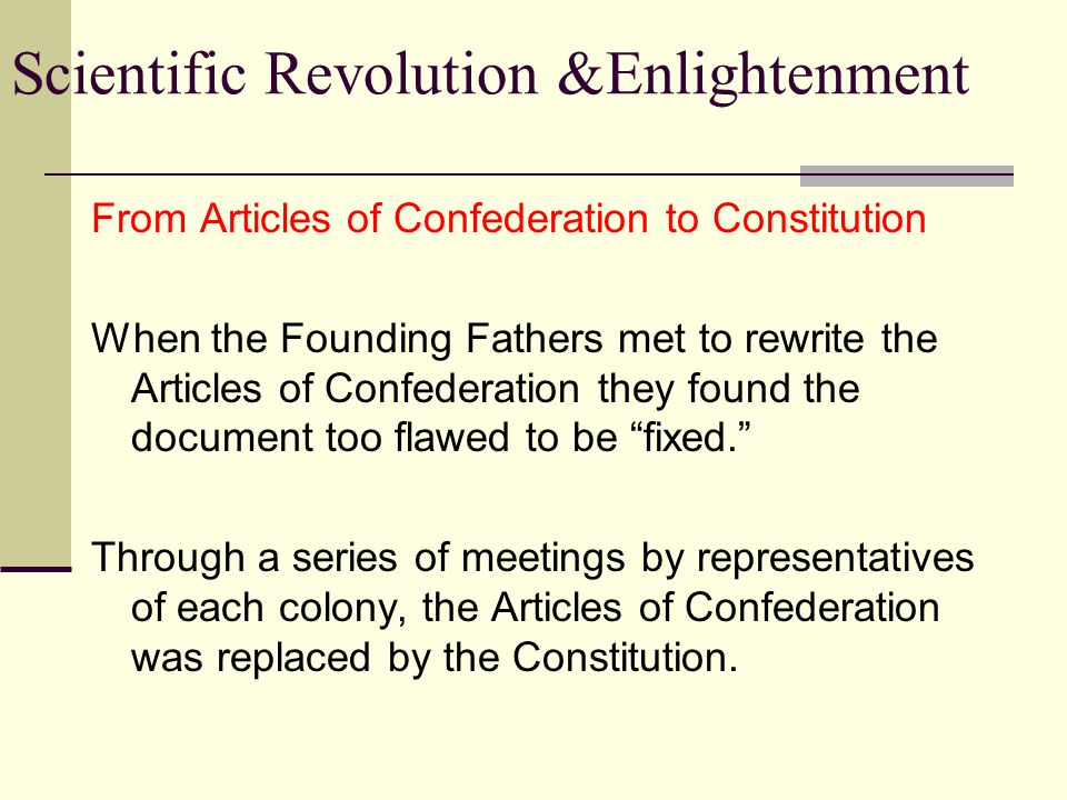 From Articles of Confederation to Constitution