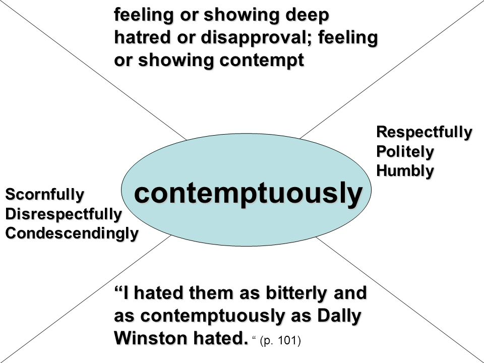 feeling or showing deep hatred or disapproval; feeling or showing contempt