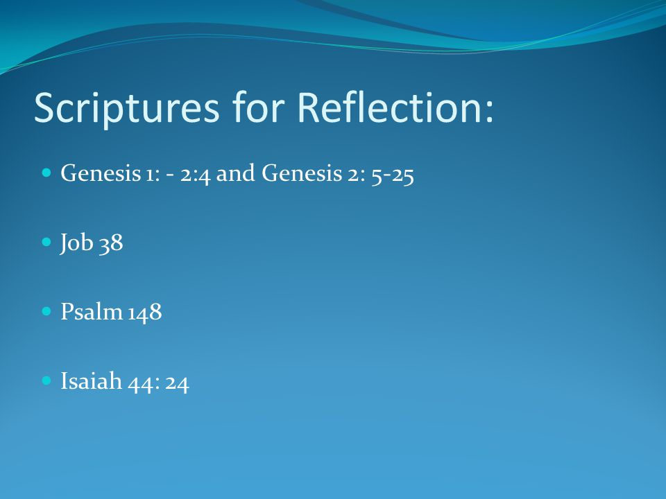 The Creation Week—Reflections on Genesis
