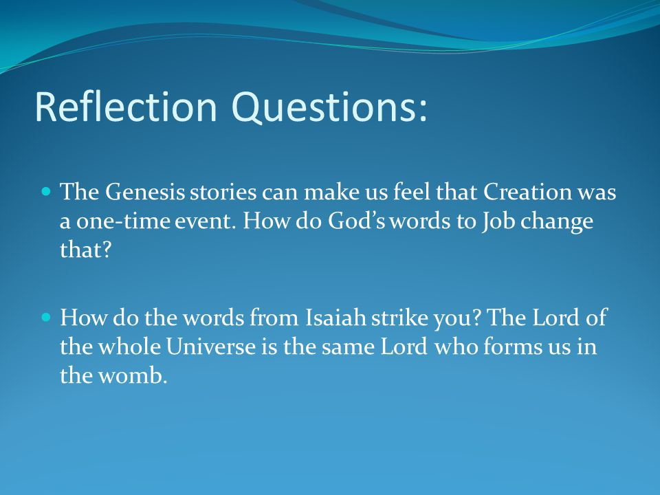 Reflection Questions: