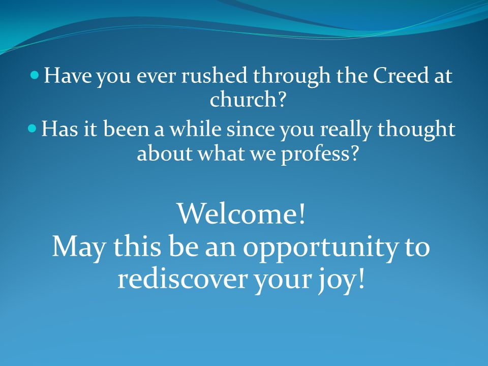 May this be an opportunity to rediscover your joy!