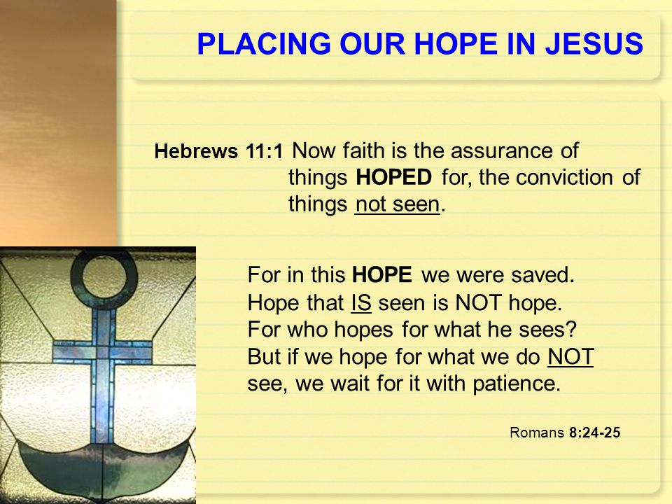 PLACING OUR HOPE IN JESUS