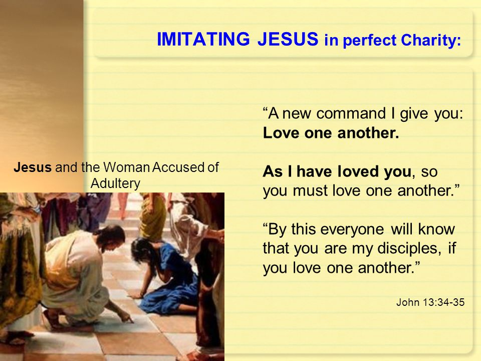 IMITATING JESUS in perfect Charity:
