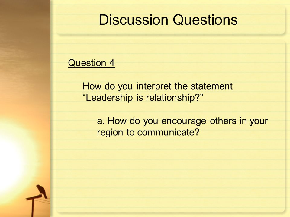 Discussion Questions Question 4